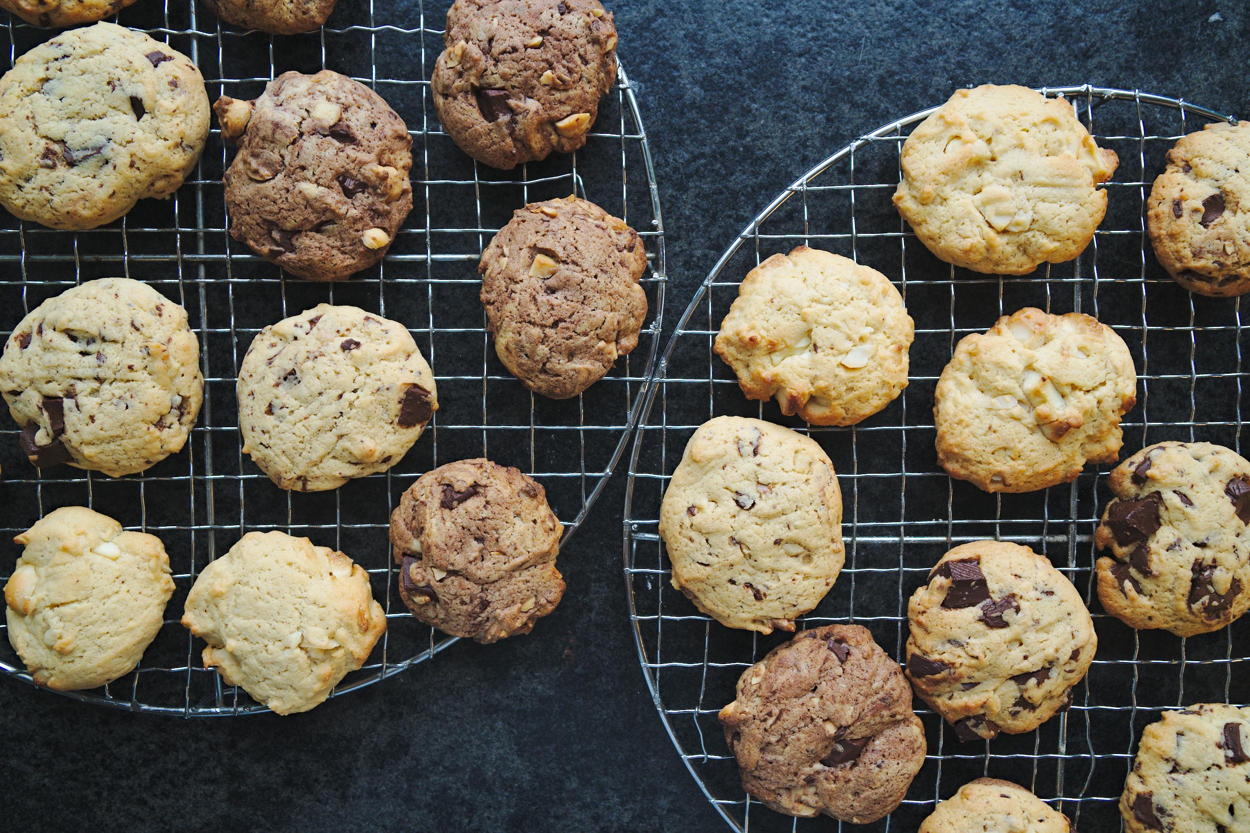 fertige Kekse auf Kuchengitter