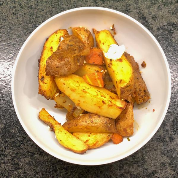 Kartoffelwedges mit Feta