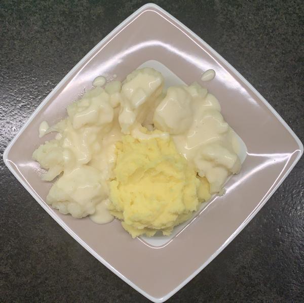Kartoffelpüree mit Blumenkohl