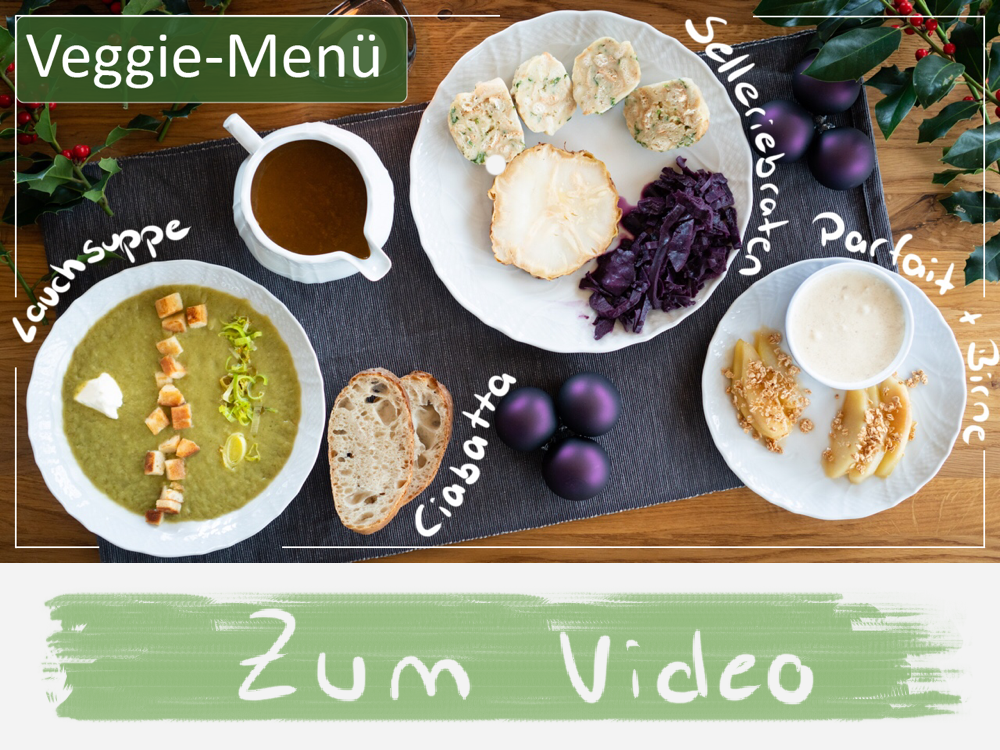 Zum Video Veggie-Menü